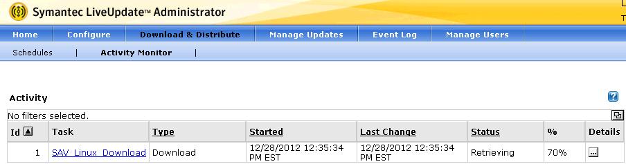 Symantec LiveUpdate Server Configuration - softwareab